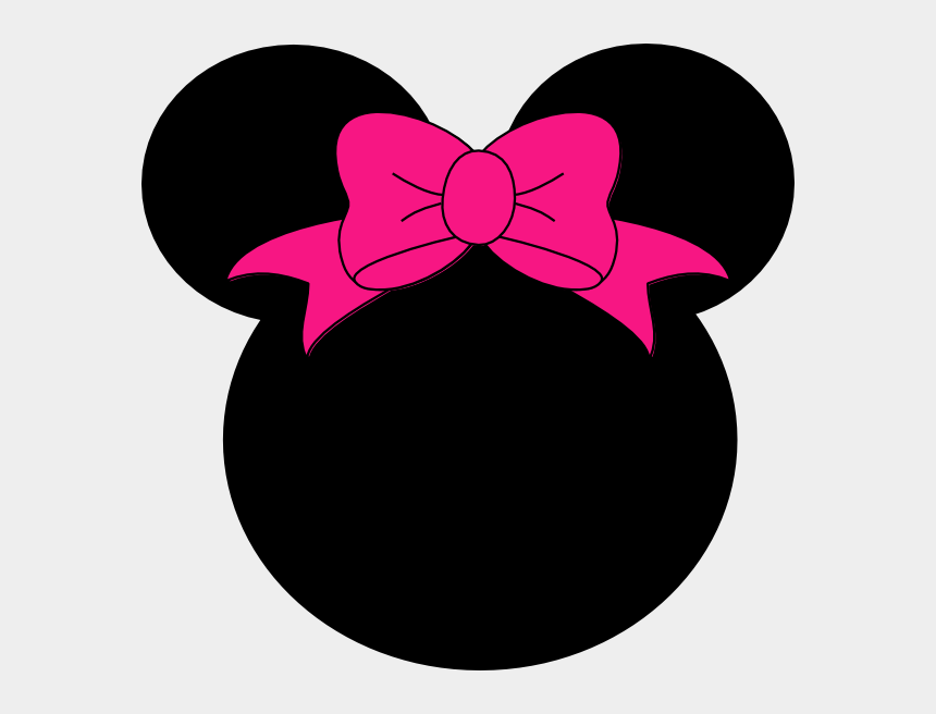 minnie mouse pink clipart, Cartoons - Minnie Mouse Head Black