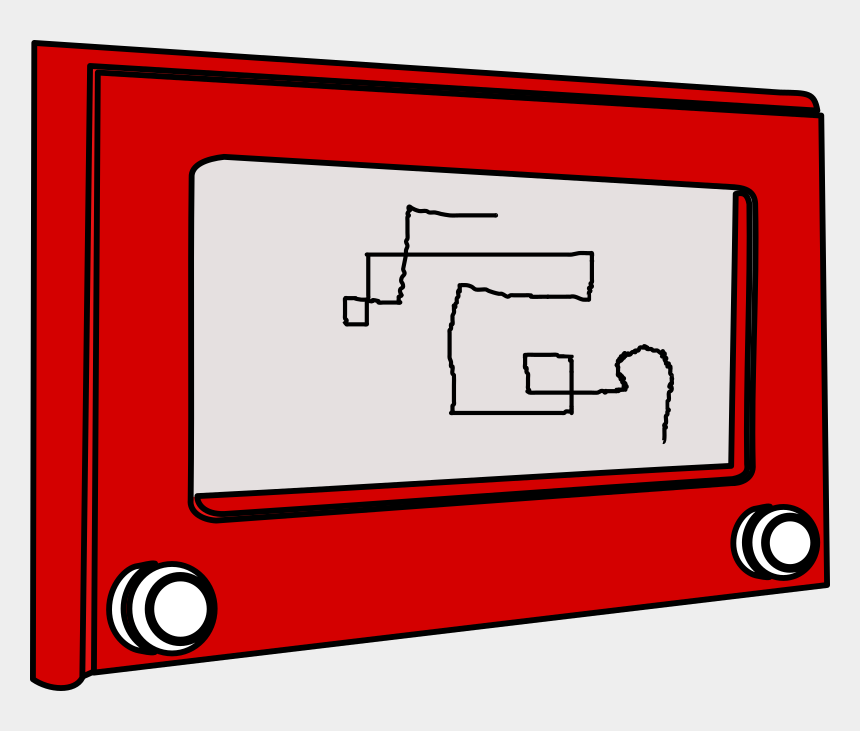 etch a sketch clipart, Cartoons - Kid's Sketch Toy - Etch Sketch Png