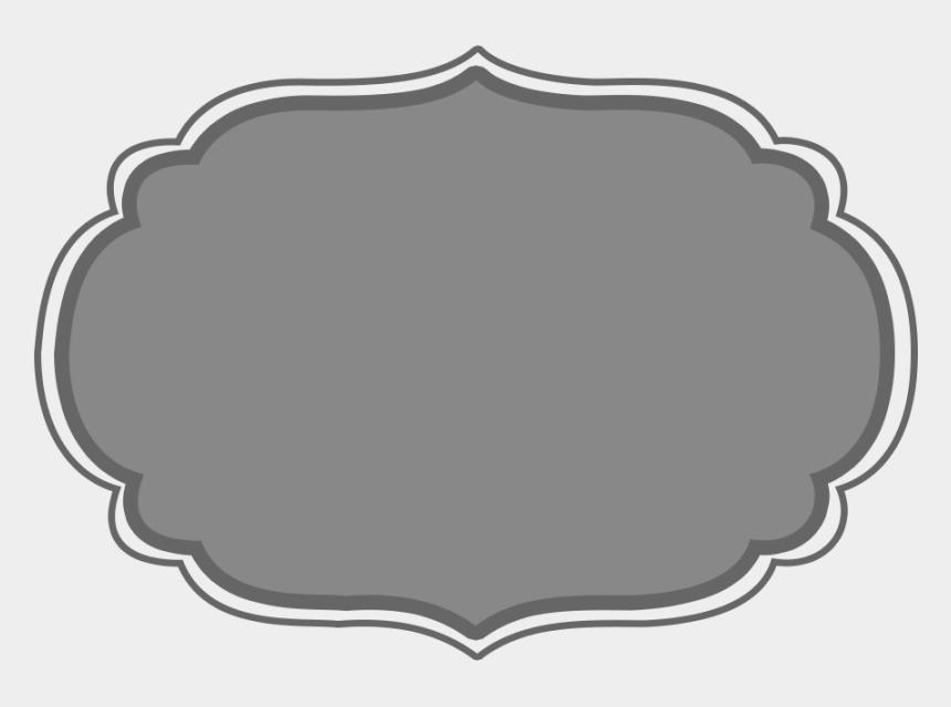 silver frame clipart, Cartoons - Lower Frames 04 - Label Frame Png