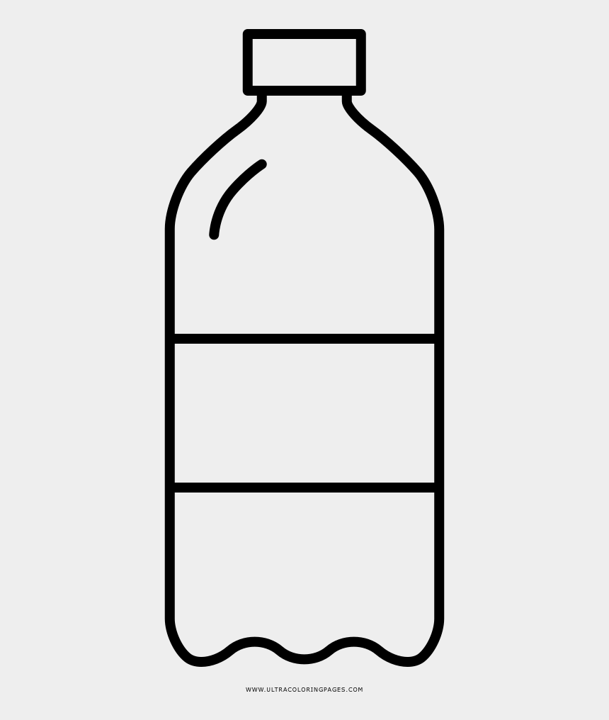plastic soda bottle clipart, Cartoons - Soda Bottle Coloring Page - Dibujar Una Botella De Agua