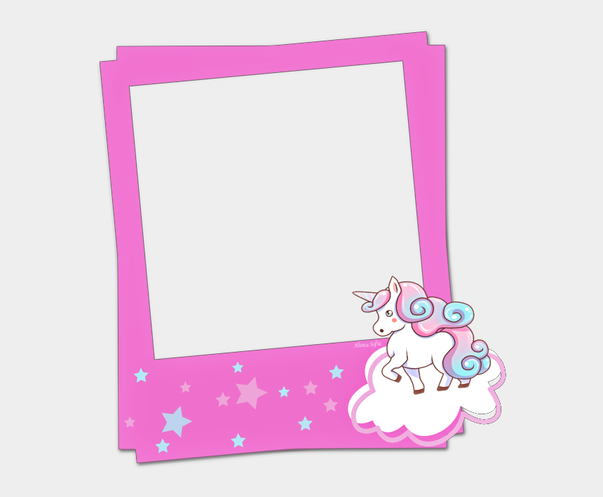 polaroid picture clipart, Cartoons - Picsart Edits, Polaroid Frame, Unicorn, Frames, Clip - Unicorn Frame Transparent Background