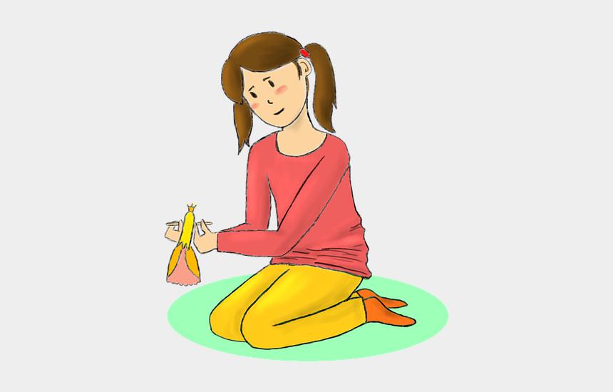 baby girl princess clipart, Cartoons - Girl Baby Girl Doll Playing Game Princess Drawing - Niña Jugando Png