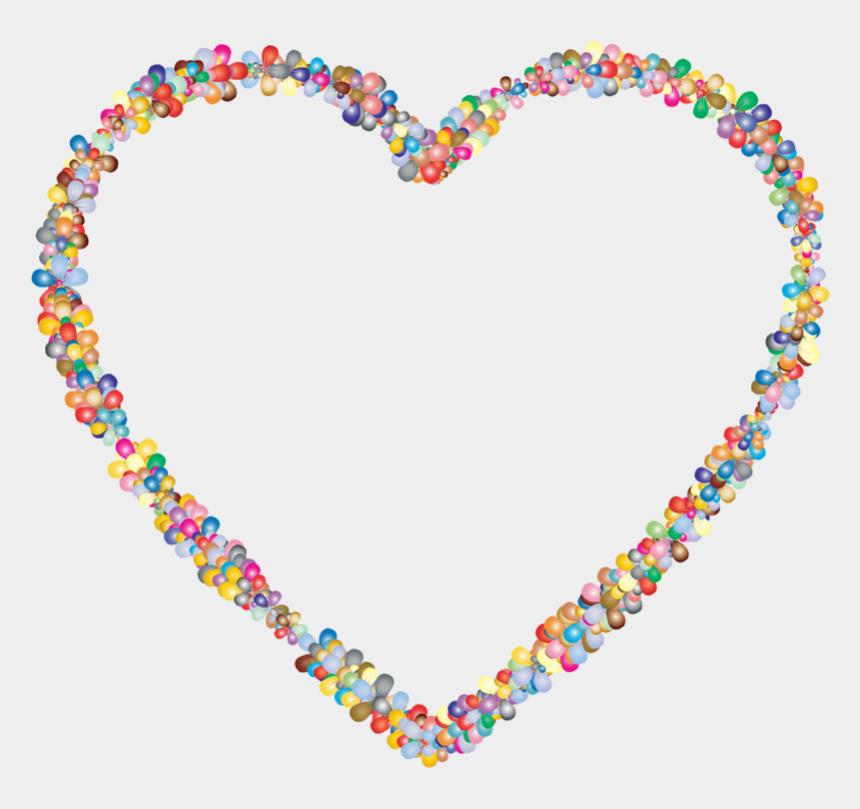heart banner clipart, Cartoons - Heart Outline Clipart - Flower Heart .png