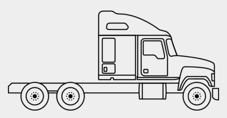 Semi Drawing Cabover Line Drawing Semi Truck Cliparts Cartoons Jing Fm