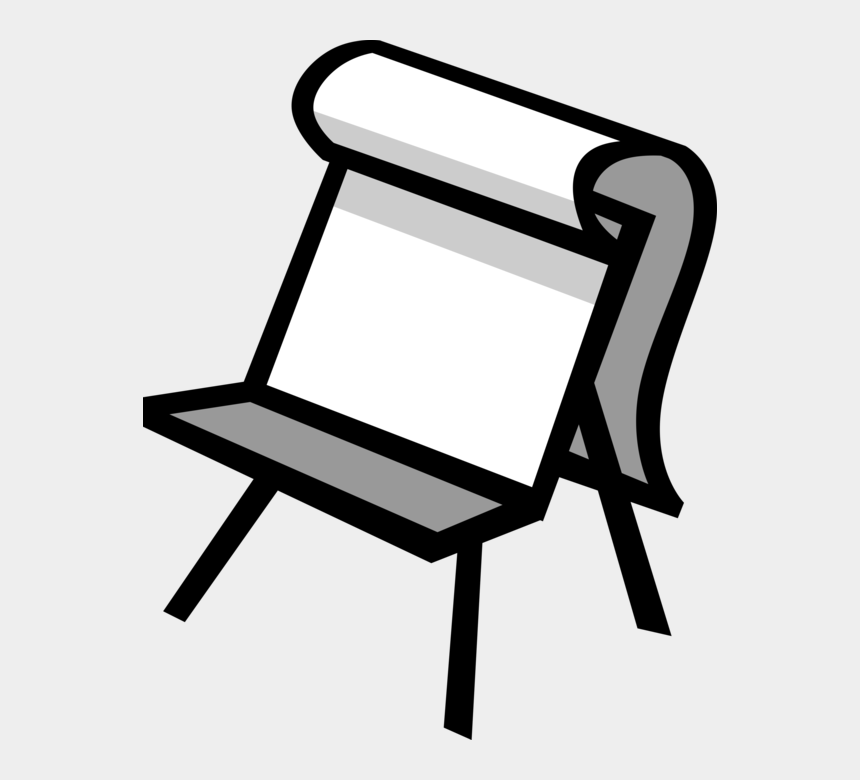 artist easel clipart, Cartoons - Vector Illustration Of Artist's Easel For Supporting - Chair