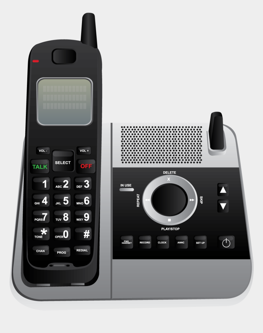 cordless telephone clipart, Cartoons - About The Same Time Cordless Telephones Were Being - Cordless Phones Clipart