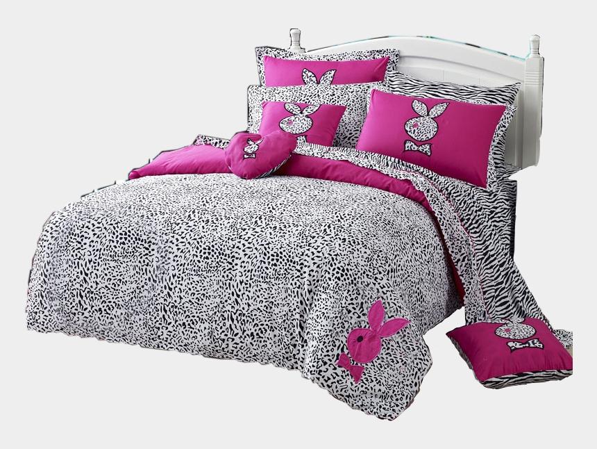 pink bed clipart, Cartoons - #playboy #bed #bedding #furniture #pink #freetoedit - Pink Playboy Leopard Print Bed Set
