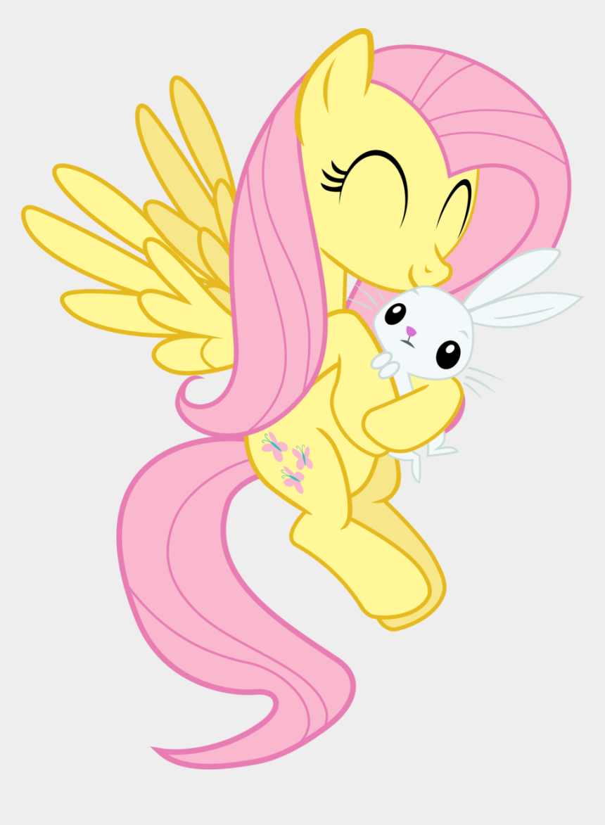 fluttershy clipart, Cartoons - Angel Bunny, Fluttershy, Flying, Hug, Safe, Simple - My Little Pony Fluttershy Angel