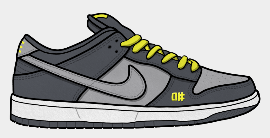 nike shoe clipart, Cartoons - The Swoosh Definitely Did This One For The Real Hip-hop - Sneakers