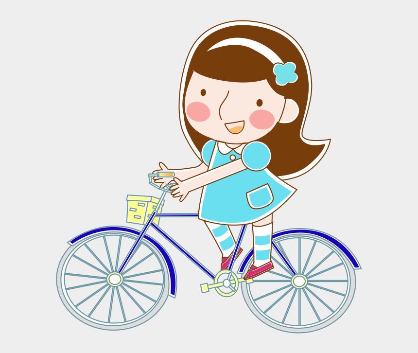 girl riding bike clipart, Cartoons - Bicycle Cartoon Hand Painted Riding A Bike Ⓒ - Royal Enfield Alloy Wheels