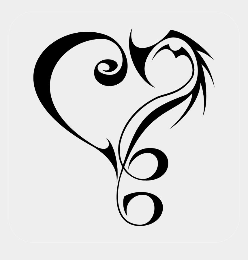tribal border clipart, Cartoons - Tribal Heart Decal - Heart Shape Tattoo Design