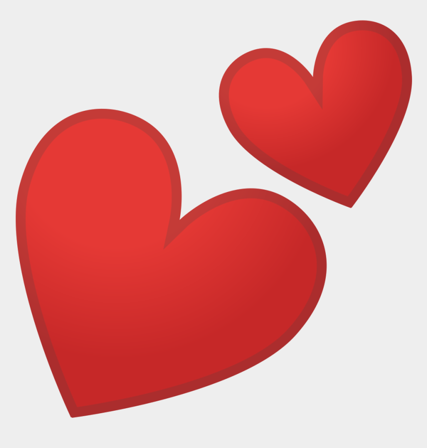 two hearts one love clipart, Cartoons - Two Hearts Icon - Two Red Hearts Emoji