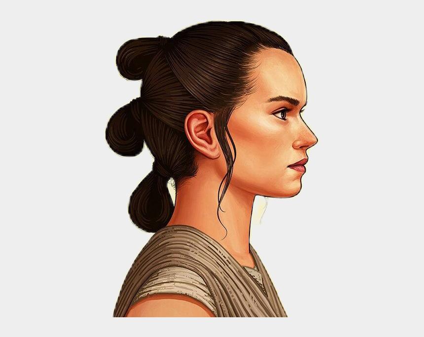 rey star wars clipart, Cartoons - #rey #starwars #nerd #geek - Rey Star Wars Profile