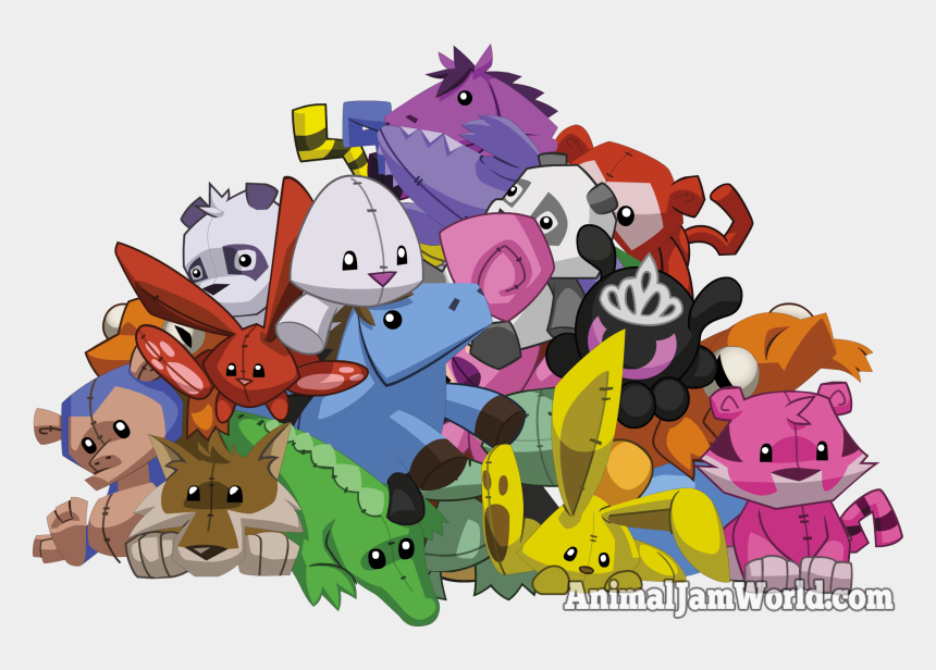 pile of stuffed animals clipart, Cartoons - Animal Jam Plushies Codes Trading More - Transparent Animal Jam Plushie