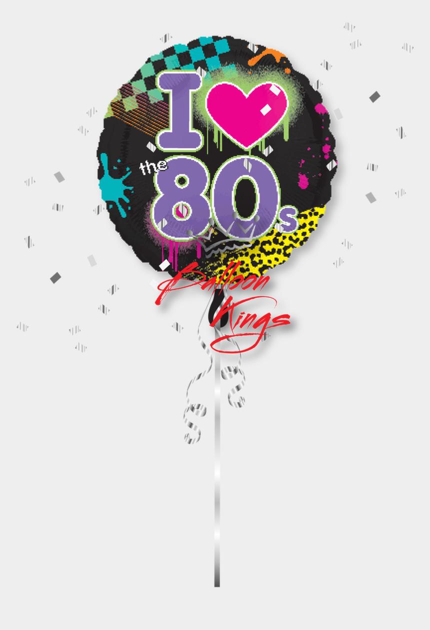 i love the 80's clipart, Cartoons - I Love 80s - 80s Balloons