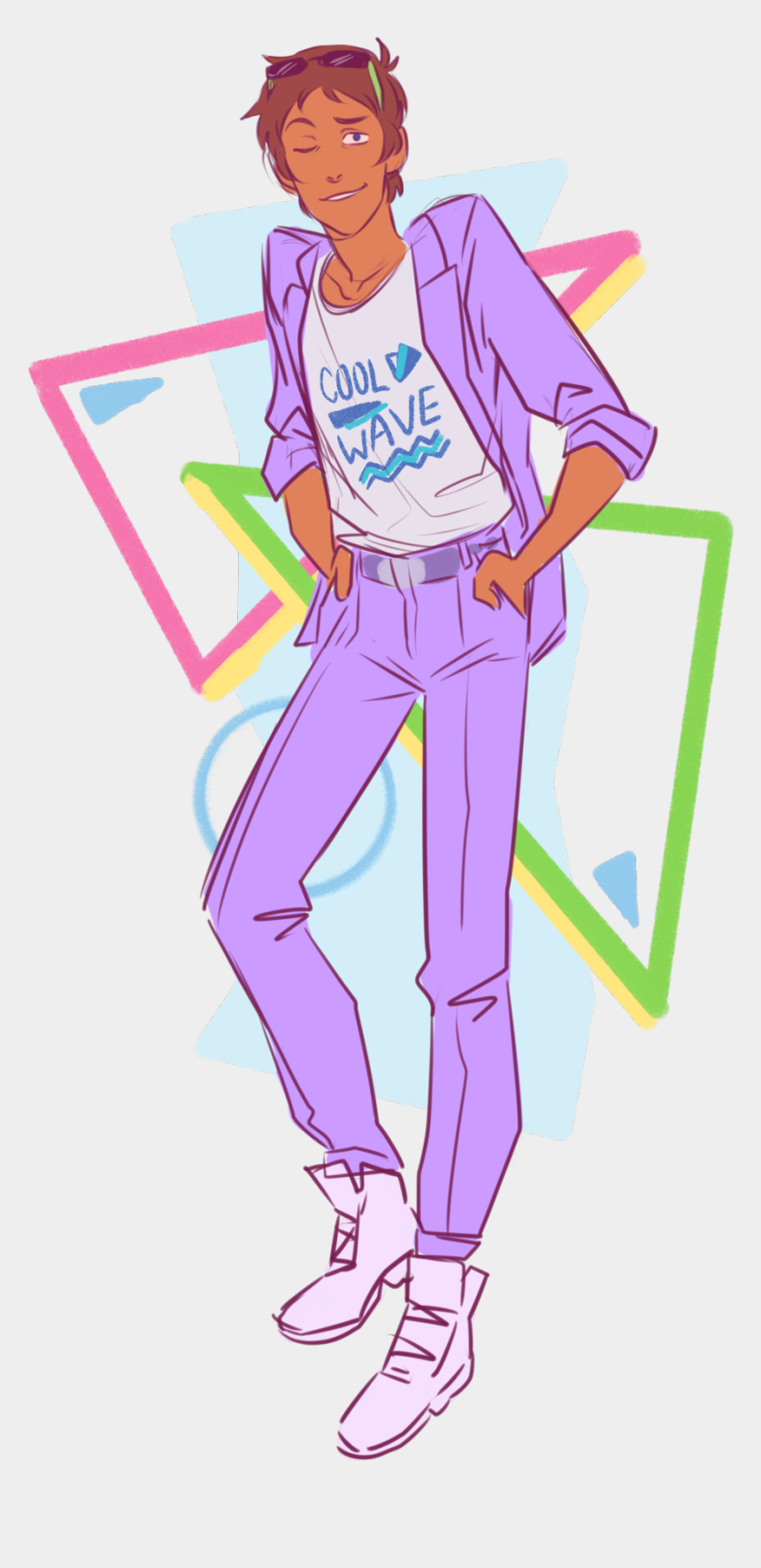 i love the 80's clipart, Cartoons - Image - 80s Clothes Drawing