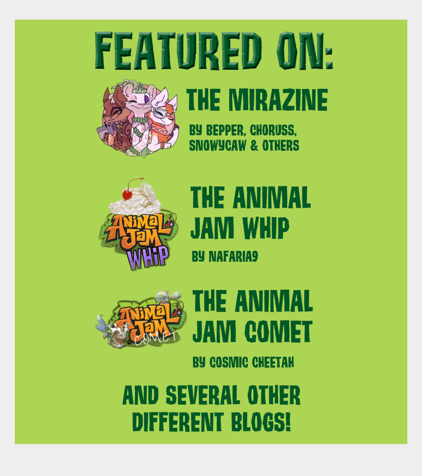 animal jam clipart, Cartoons - So Grab A Cup Of Your Favorite Drink And Stay Awhile - Animal Jam