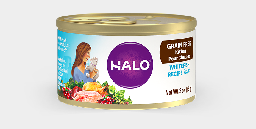 grain food group clipart, Cartoons - Halo Holistic Grain Free Whitefish Recipe For Kittens - Halo Wet Cat Food