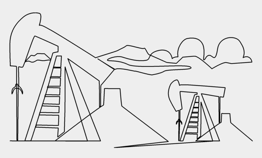 land oil rig clipart, Cartoons - Line Art