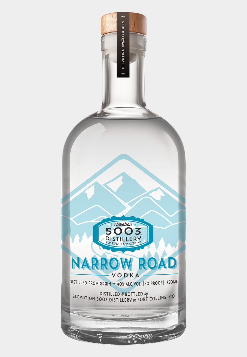 vodka bottle clipart, Cartoons - Narrow Road Screenprint Final - Glass Bottle