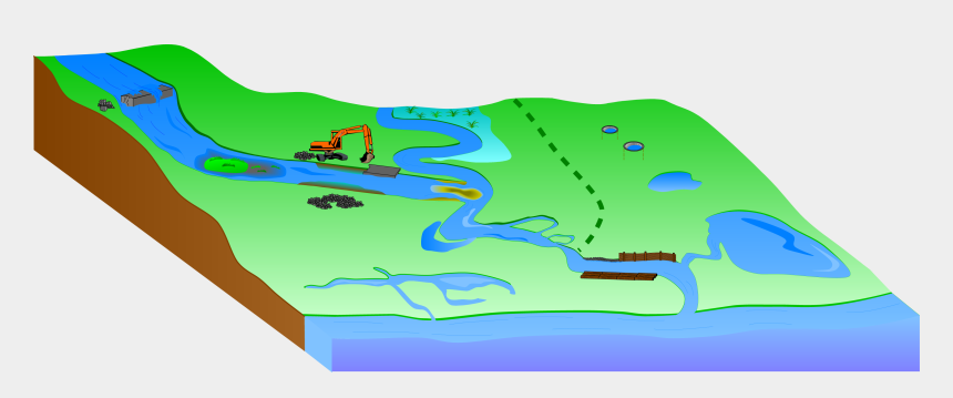hydroelectric dam clipart, Cartoons - Hydro Morphology - Natural Water Retention Measures