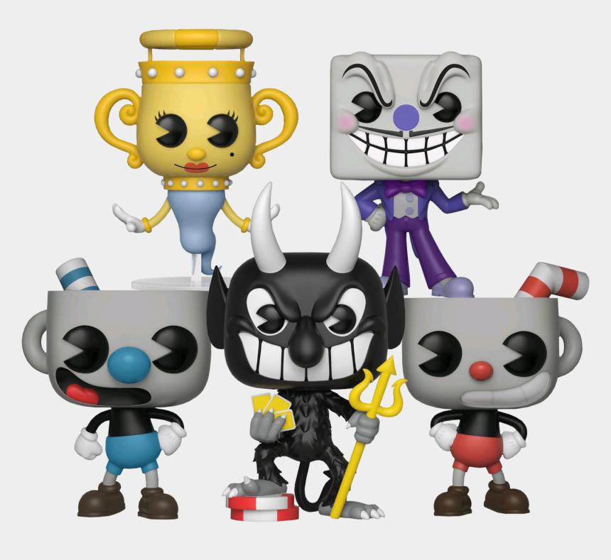 funko pop clipart, Cartoons - Cuphead - Funko Pop Figures Cuphead