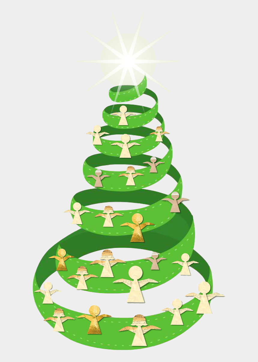 the giving tree clipart, Cartoons - Christmas Angel Giving Tree - Christmas Tree