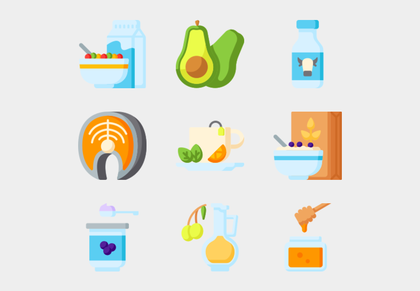 person eating healthy clipart, Cartoons - Healthy Food