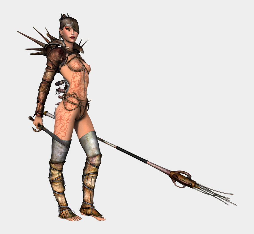girl warrior clipart, Cartoons - Adult Content Safesearch Girl, Armor, Warrior, Weapon, - Beautiful Animated Spears And Lances