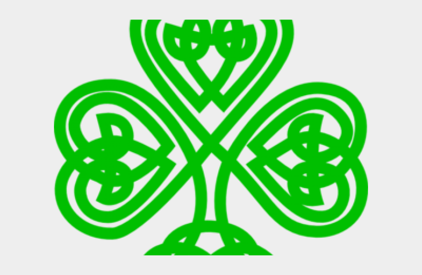 celtic shamrock clipart, Cartoons - Celtic Knot Shamrock Heart