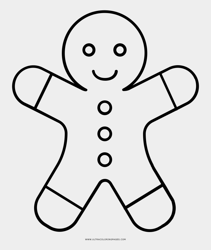 gingerbread man black and white clipart, Cartoons - Gingerbread Man Coloring Page - Sans Head Clipart