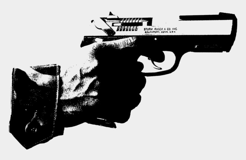 guns clipart black and white, Cartoons - Black White Gun - Black And White Gun Transparent