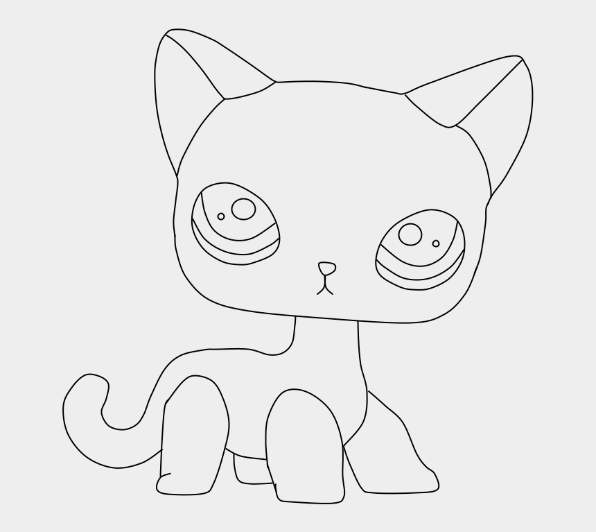 littlest pet shop animals clipart, Cartoons - Lps Cat Coloring Pages