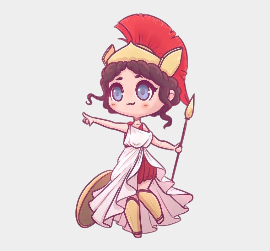 athena goddess clipart, Cartoons - Cute Sticker - Cute Greek Gods Drawings
