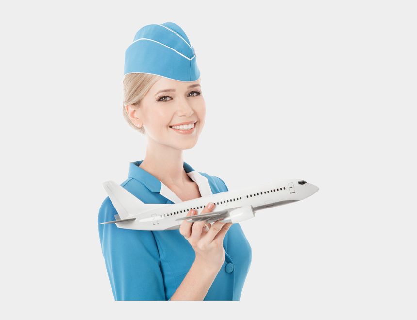 flight attendant serving clipart, Cartoons - Flight Attendant