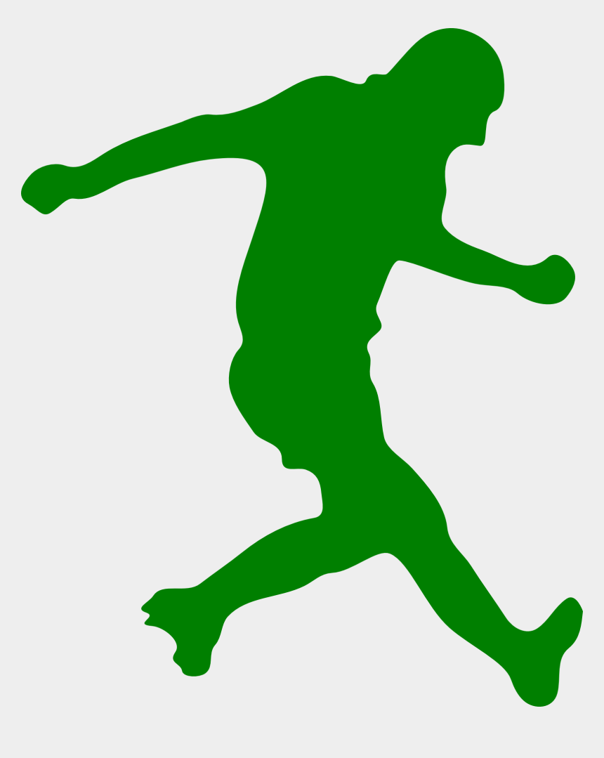 football player clipart images, Cartoons - Football Player Silhouette Clip Art - Soccer Player Silhouette