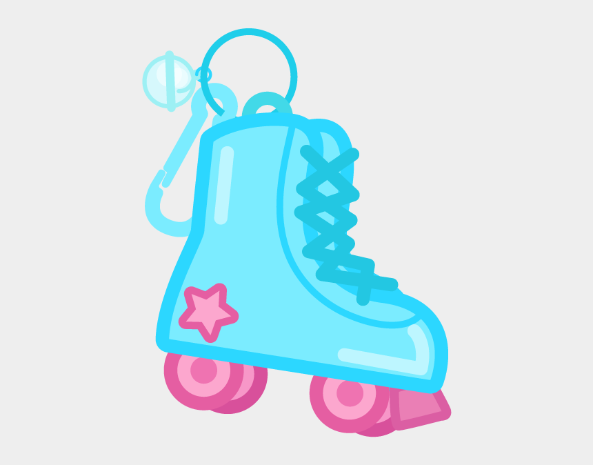 80's roller skates clipart, Cartoons - Charm Ing ~retro 80's Plastic Charms~ Messages Sticker - Illustration