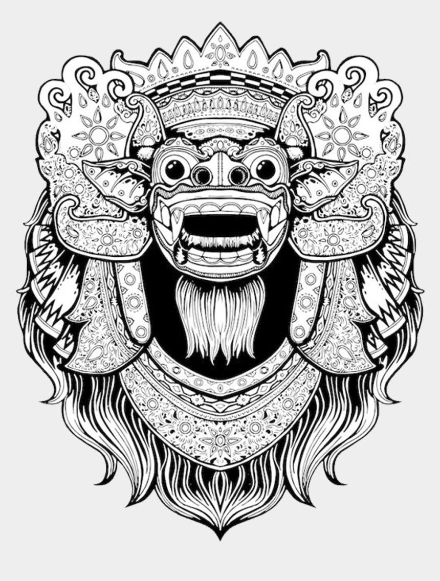 t-shirt clipart, Cartoons - Balinese Art Bali Barong T-shirt Drawing Clipart - Barong Drawing