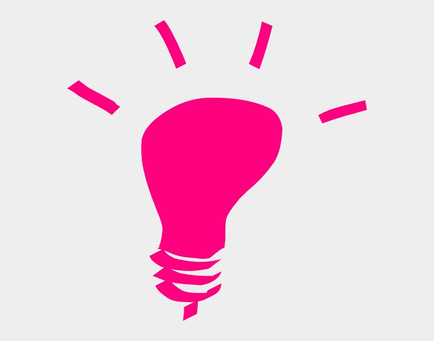 light bulb clipart, Cartoons - Lightbulb Clipart Pink - Light Bulb Clip Art