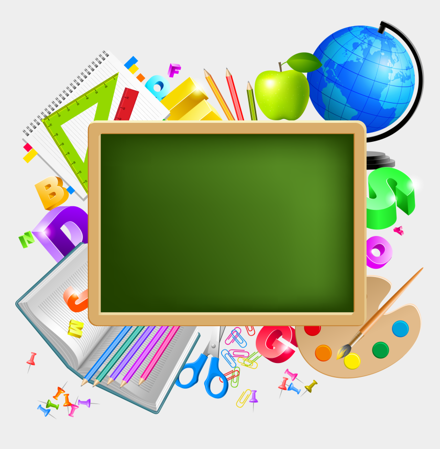crayons clipart, Cartoons - Back To School Background - Ecole Png