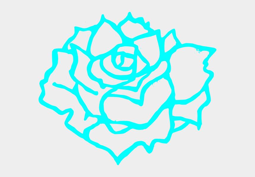 flowers clipart black and white, Cartoons - Blue Flower Clip Art - Brown Rose Clip Art
