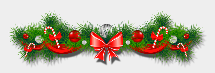 christmas clipart borders, Cartoons - Christmas Garland Border Transparent - Christmas Decorations Transparent Background
