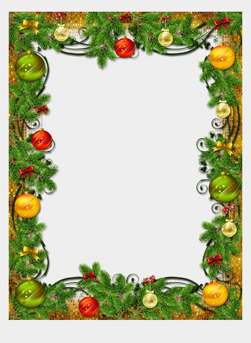 christmas clipart borders, Cartoons - Christmas Decoration Png - Christmas Photo Frame Png