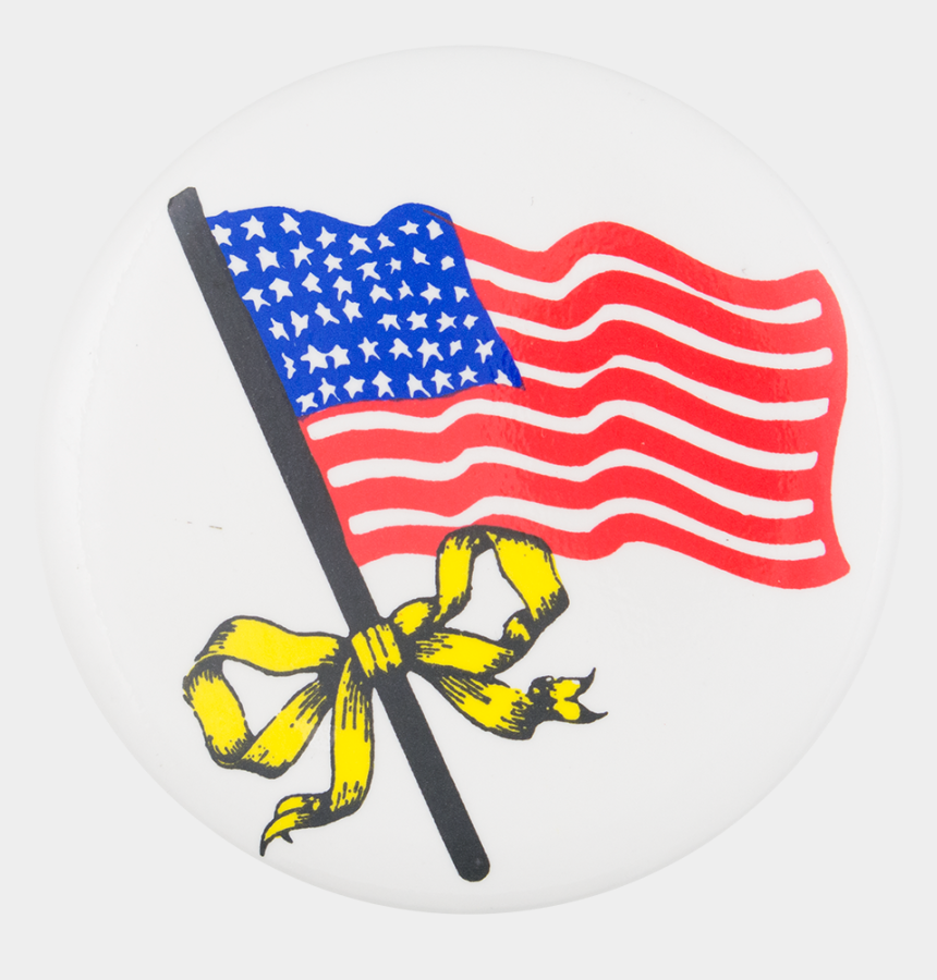 american flag clipart, Cartoons - American Flag With Yellow Ribbon