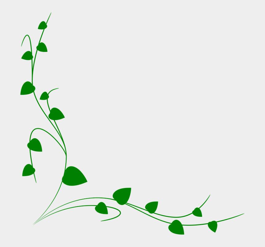 vines clipart, Cartoons - Ornament, Foliage, Decoration, Theme - Green Vine Border Clipart