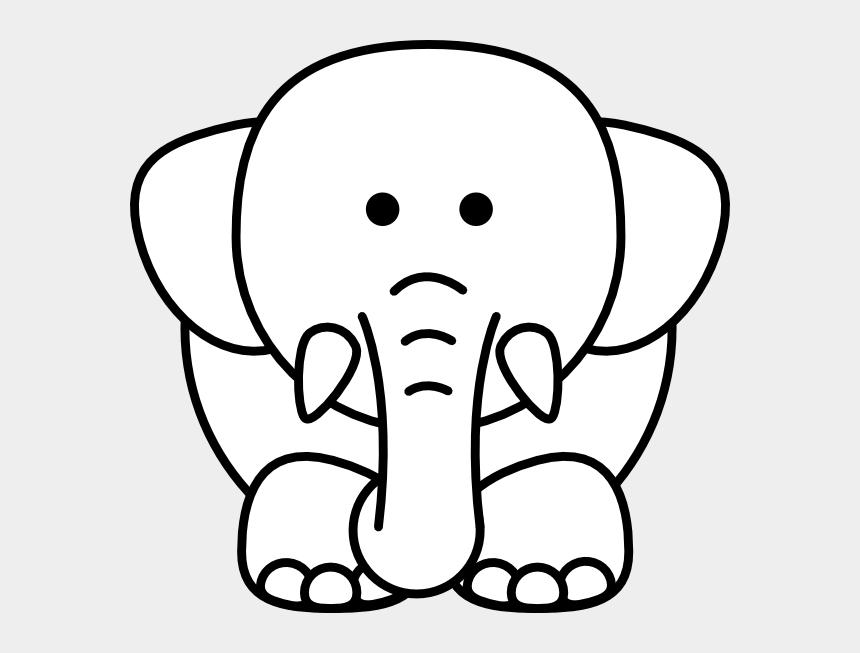 elephants clipart, Cartoons - Cartoon Elephant Bw Clip Art - Elephant Cartoon Line Drawing