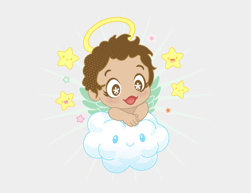 angels clipart, Cartoons - 100 Themes Challenge From - Angel And Clouds Clip Art
