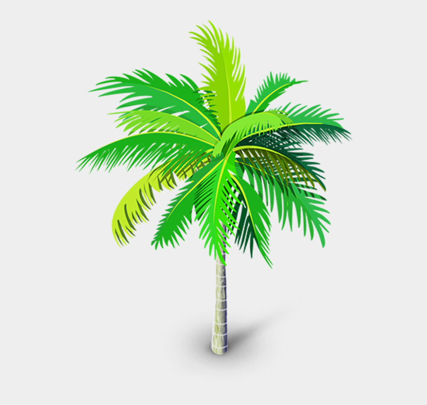 palm trees clipart, Cartoons - Palm Tree Png, Palm Tree Vector, Palm Trees, Youtube - Vector Transparent Tree Png