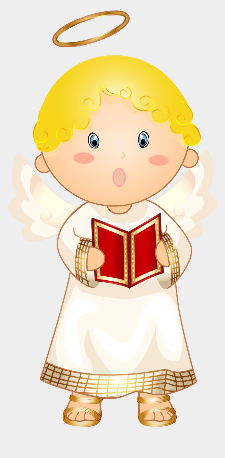 angels clipart, Cartoons - Little Angel Caroler Transparent Png Clip Art Image - Little Angel Transparent