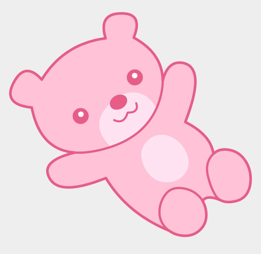 teddy bear clipart, Cartoons - Cute Pink Teddy Bear Clipart Free Clip Art - Pink Bear Clip Art